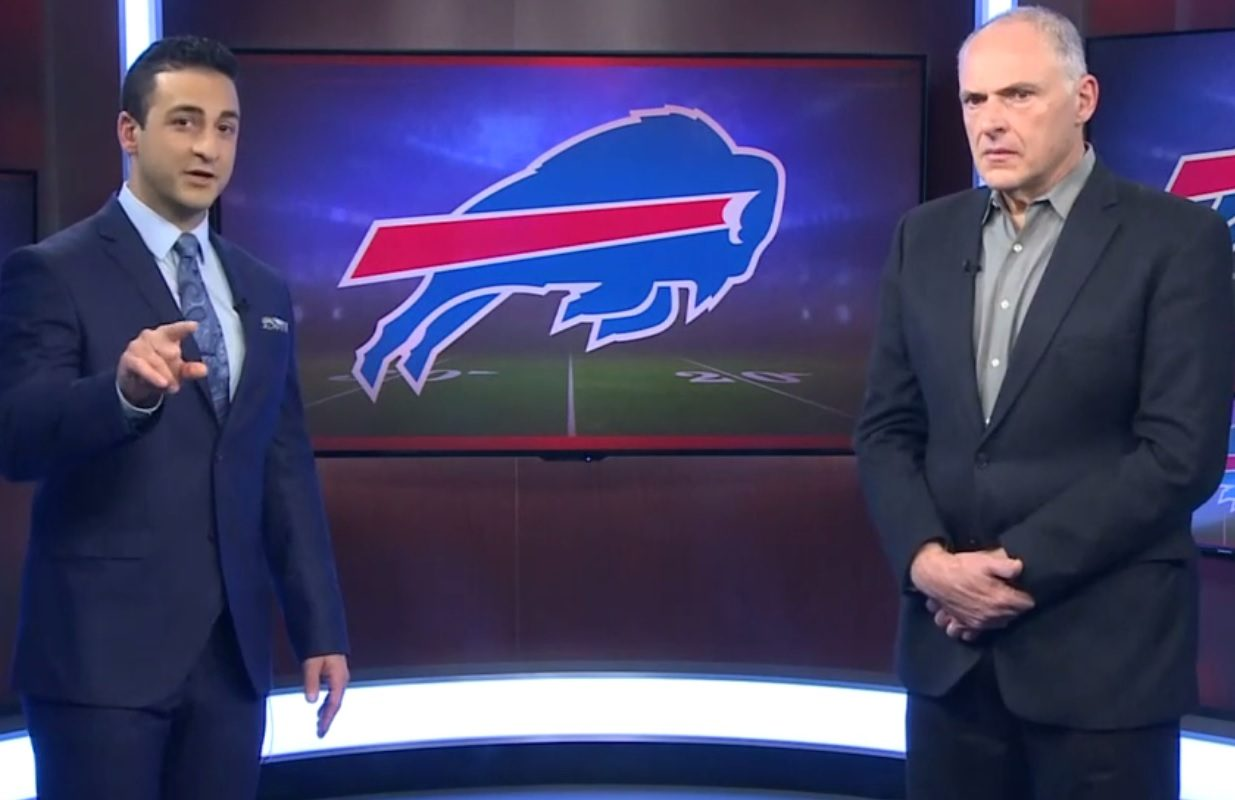 Jonah Javad, left, of WGRZ Channel 2, and The News' Vic Carucci break down the Bills.