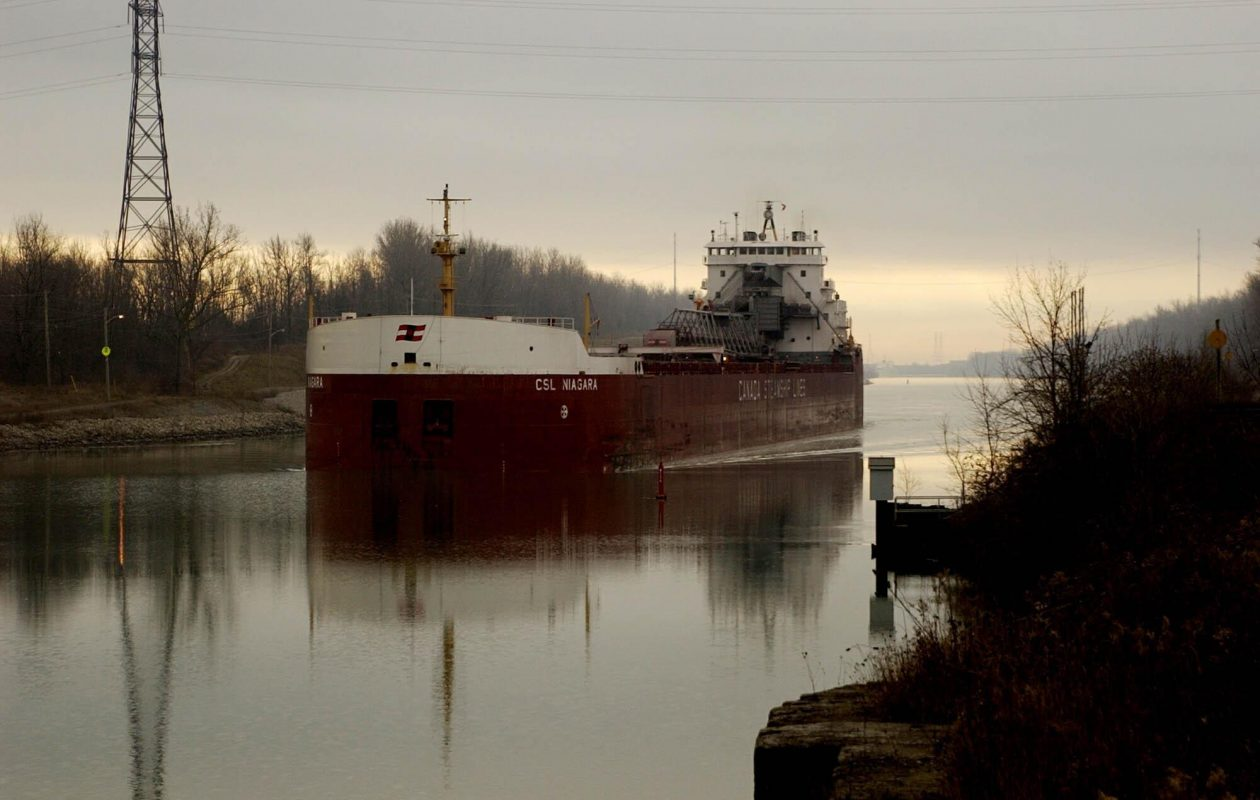 The CSL Niagara on the Welland Canal in 2013. (Robert Kirkham/Buffalo News)