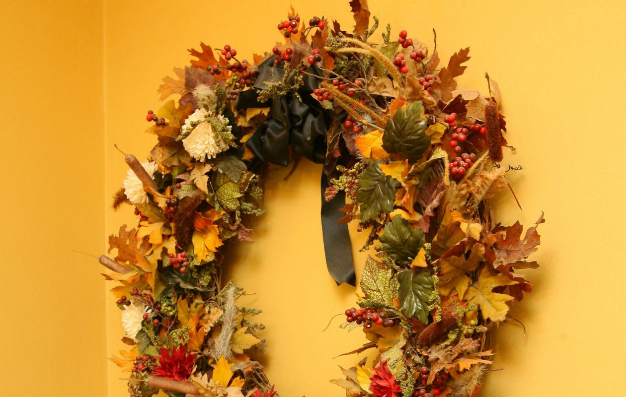 A fall wreath celebrates the season. (News file photo)