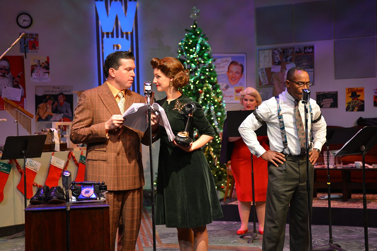 Steve Copps, Kelly Copps, Charmagne Chi and Fisher appear in Road Less Traveled Theatre's production of 'It's a Wonderful Life: A Live Radio Play' in Shea's 710 Theatre.