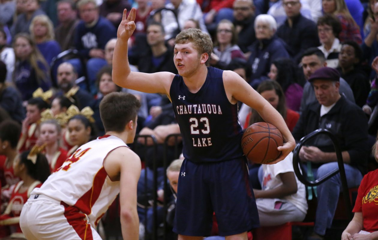 Chautauqua Lake's Devin Pope, a 2016-17 second team All-Western New York selection, is averaging 36.75 points through four games this season, including a pair of 40-point efforts. (Harry Scull Jr./Buffalo News)