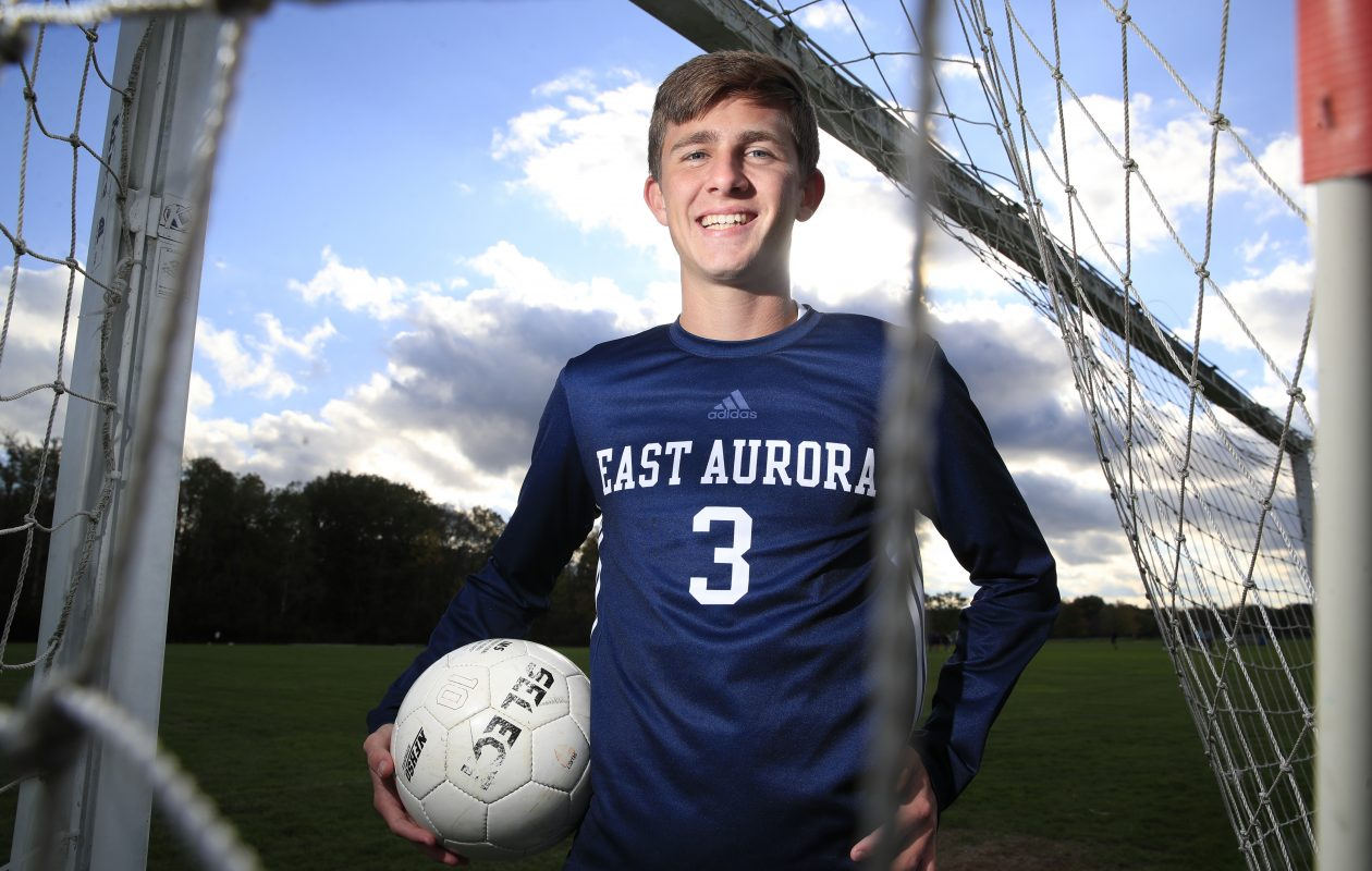 Bryce Schiltz of East Aurora boys soccer.  (Harry Scull Jr./ Buffalo News)
