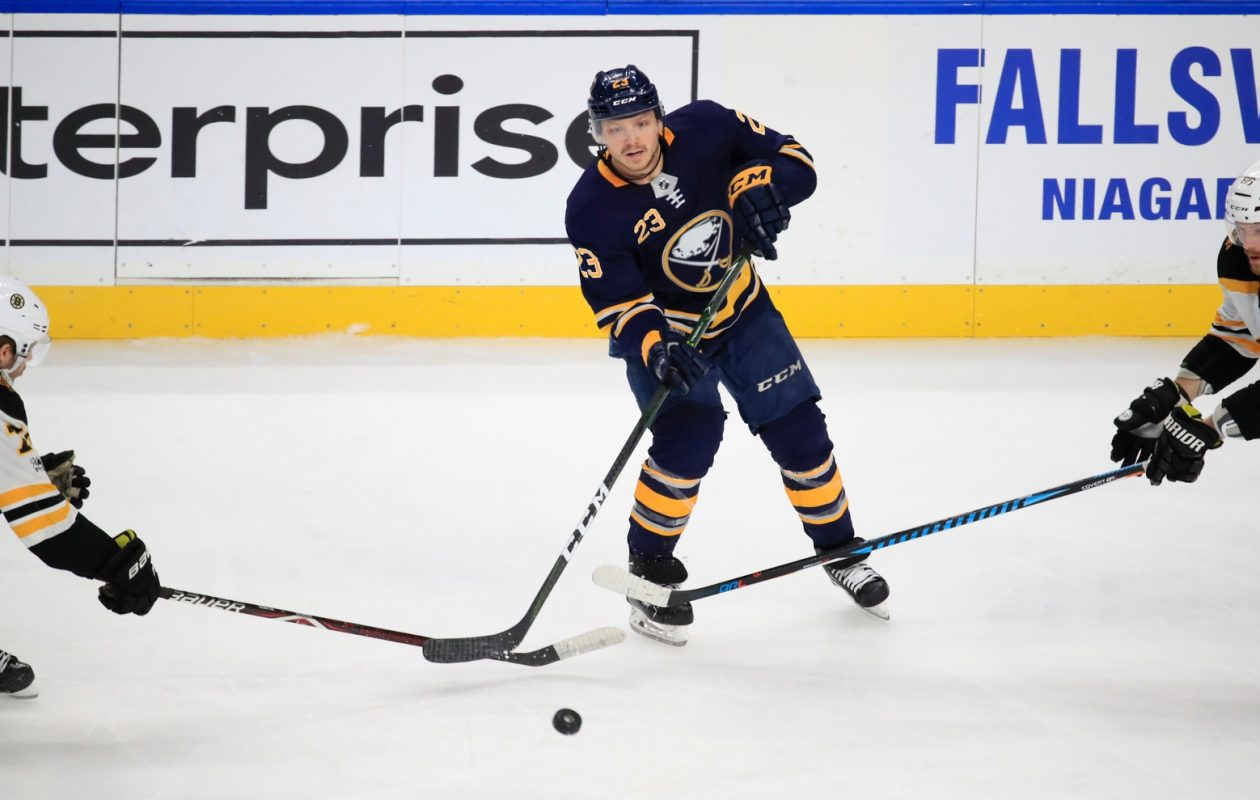 Sam Reinhart recorded his second-lowest ice time of the season Tuesday against Boston. (Harry Scull Jr./Buffalo News)