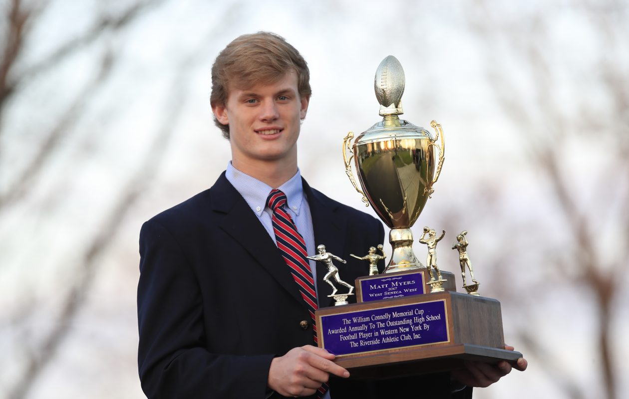 West Seneca West senior Matt Myers is the 46th recipient of the Connolly Cup. (Harry Scull Jr./Buffalo News)