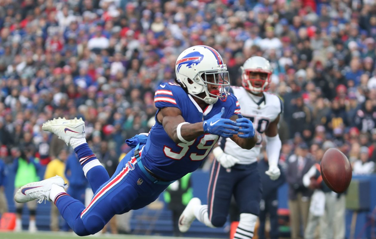 Buffalo Bills running back Travaris Cadet (39). (James P. McCoy/Buffalo News)