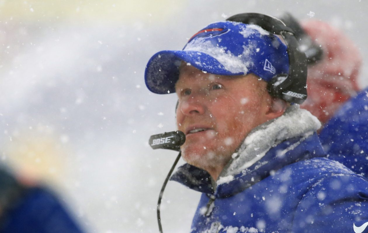 Buffalo Bills coach Sean McDermott looks on against the Indianapolis Colts during second quarter action at New Era Field on Sunday, Dec. 10, 2017. (Harry Scull Jr./Buffalo News)