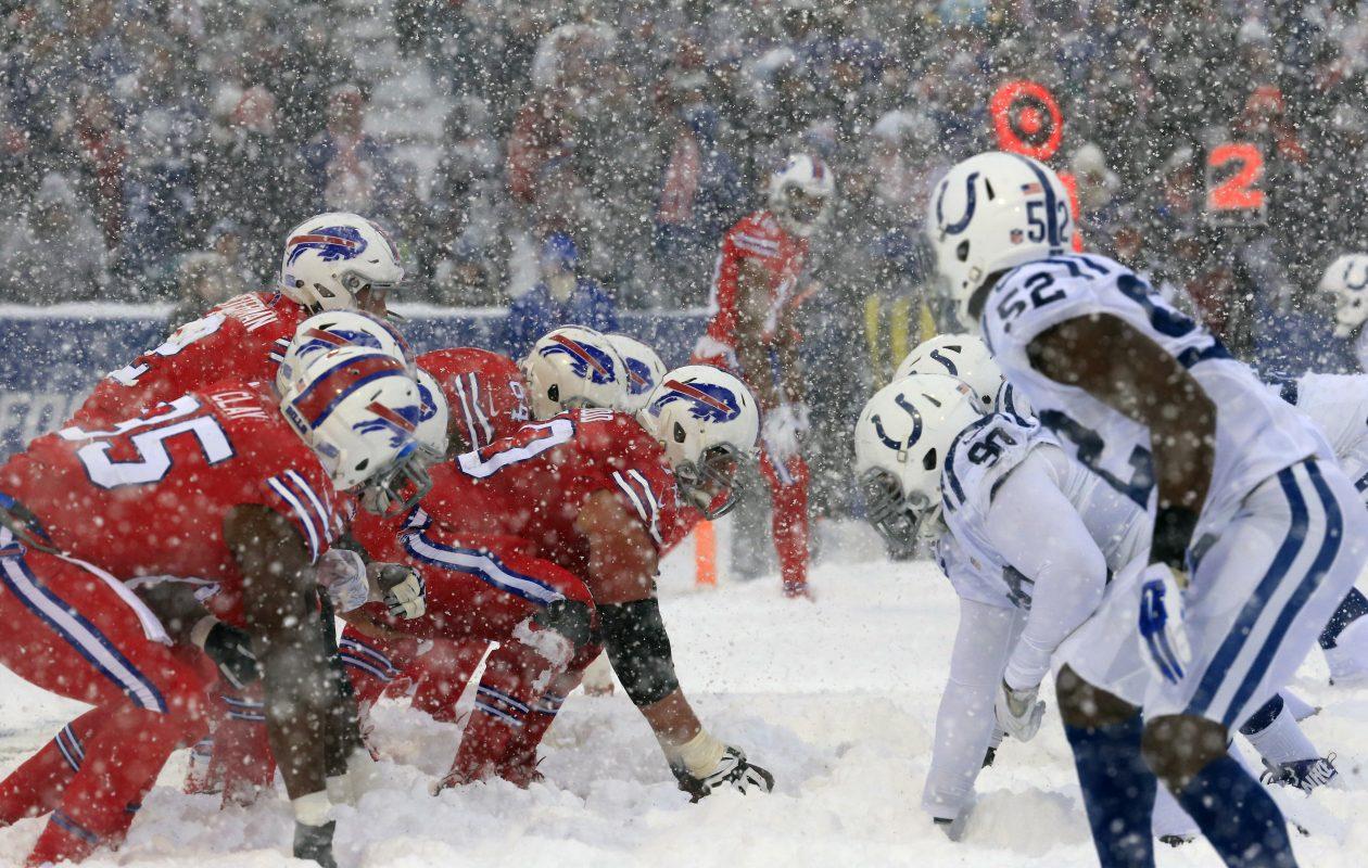 Buffalo Bills and Indianapolis Colts at a snowy New Era Field on Sunday, Dec. 10, 2017. (Harry Scull Jr./Buffalo News)