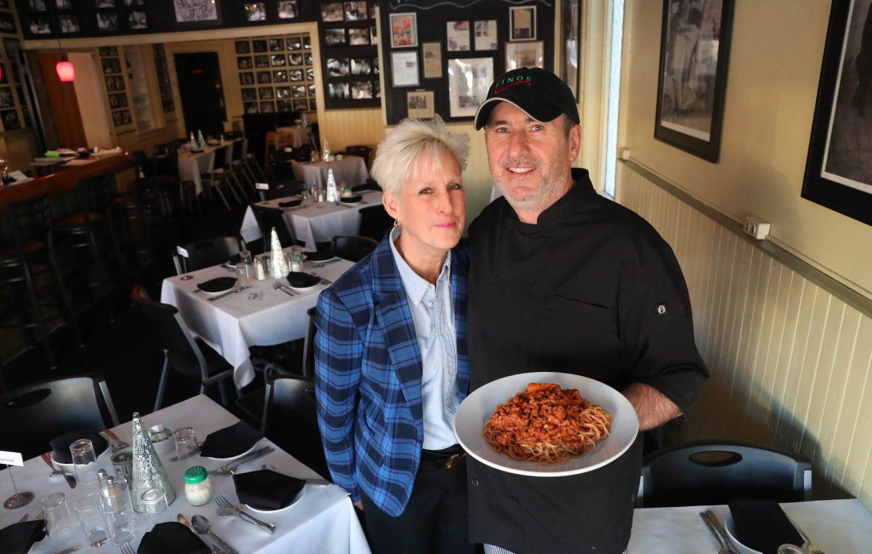 Owners Kathleen and Tony Cangianiello are sure to make Vino's customers feel like family. (Sharon Cantillon/Buffalo News)