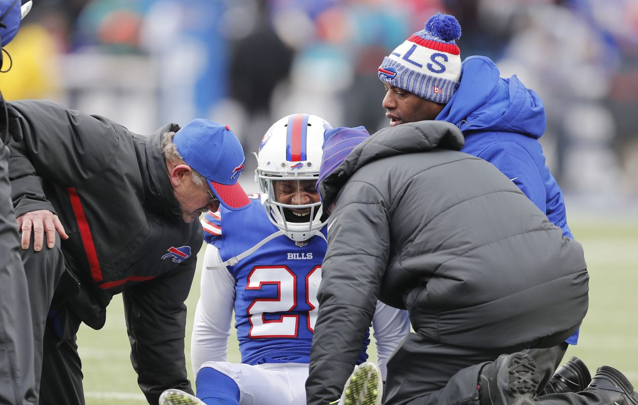 Cornerback E.J. Gaines, who suffered a knee injury in Week 15 against Miami, is out Sunday against New England. (Mark Mulville/Buffalo News)