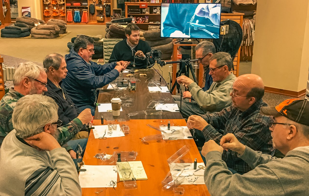Free fly-tying classes are available through the Orvis store every Saturday for seven weeks starting on Jan. 13. Class size is limited to 12 students.