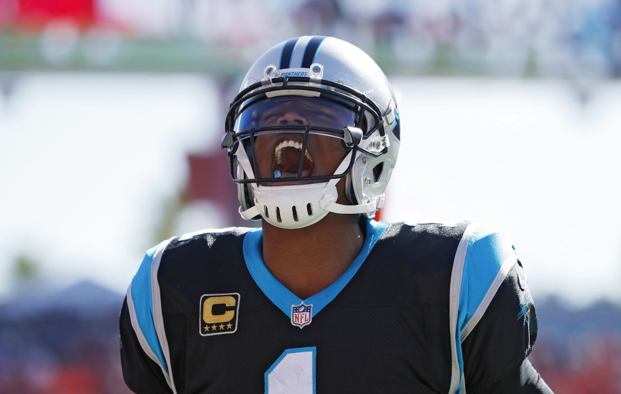 Can Newton and the Carolina Panthers will have a say on whether the Atlanta Falcons make the playoffs. (Getty Images)