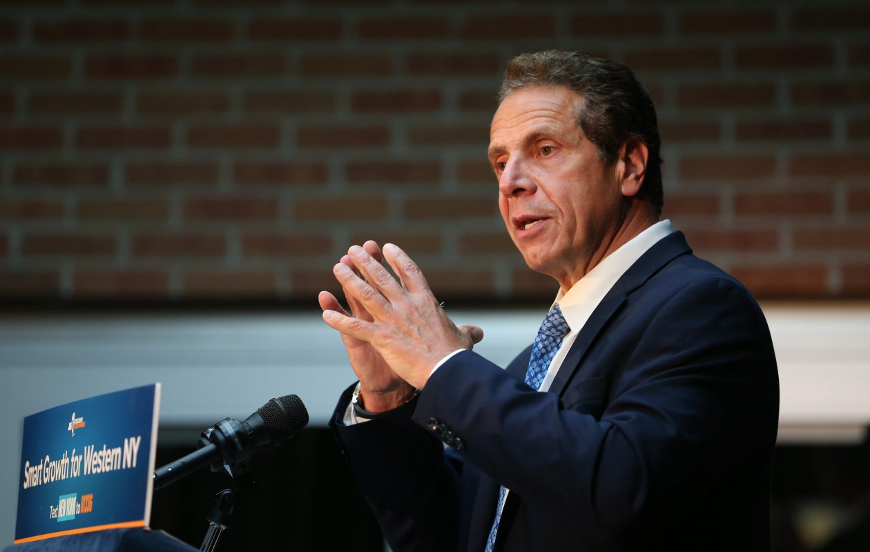 Gov. Andrew Cuomo makes an announcement at the Remington Building in North Tonawanda on Oct. 4, 2017. (File photo/Sharon Cantillon/Buffalo News)