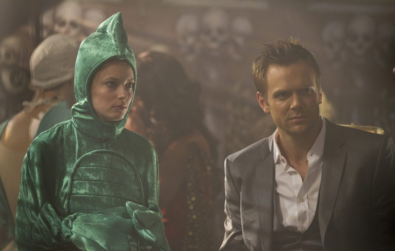 """Gillian Jacobs as Britta, and Joel McHale as Jeff in """"Community."""" (Photo by Justin Lubin/NBC)"""