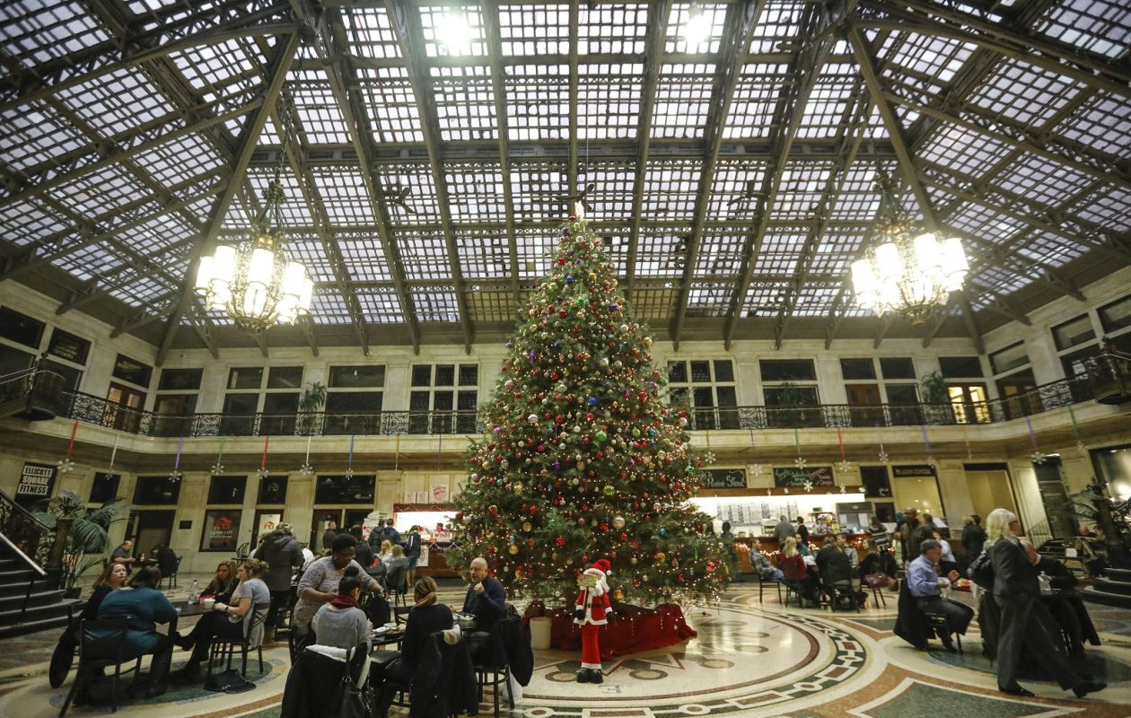 The grand lobby of the Ellicott Square Building.  (Derek Gee/Buffalo News)