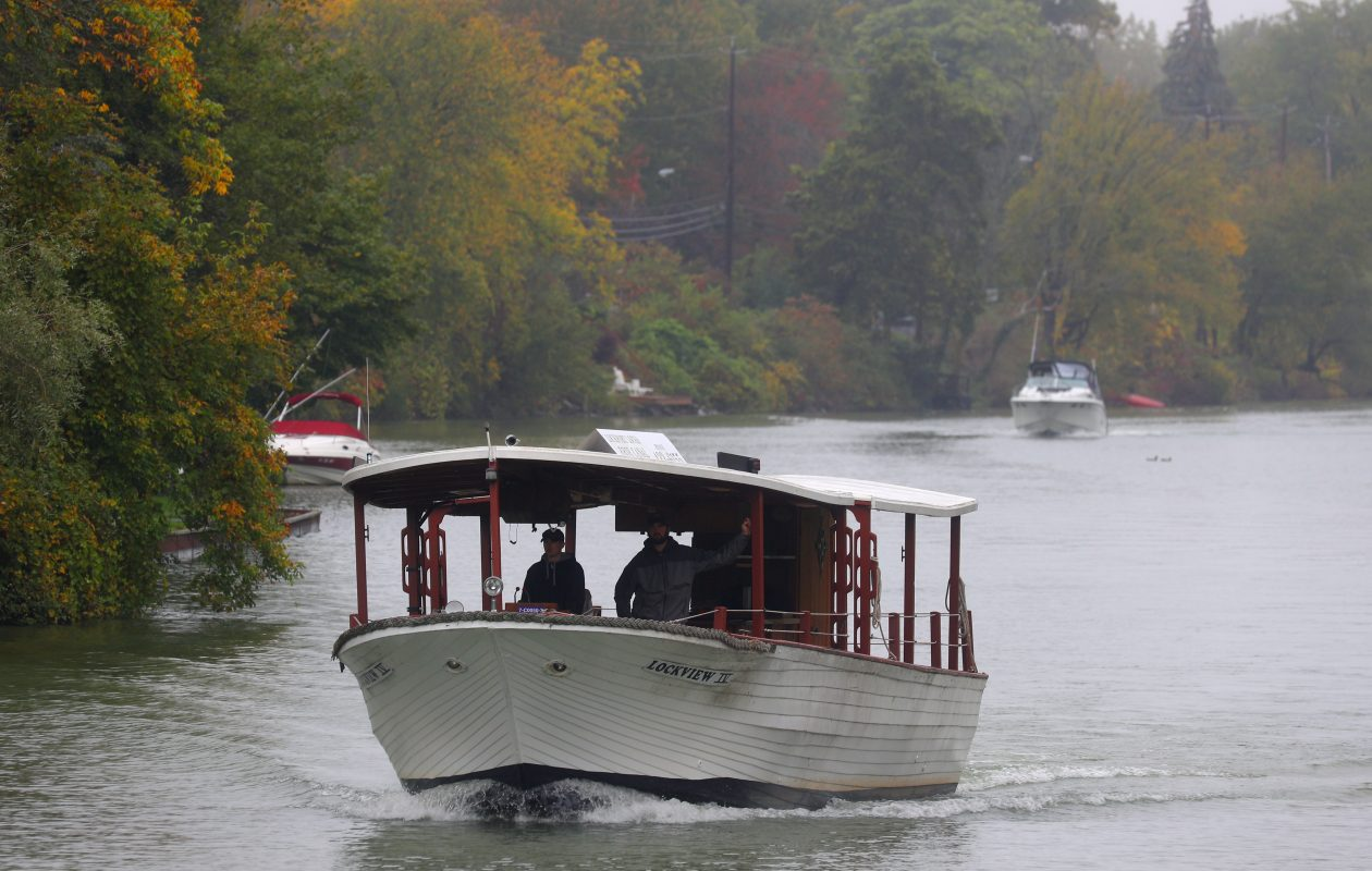 The Lockview IV cruises west on the Erie Canal in  the Town of Tonawanda. (John Hickey/Buffalo News file photo)