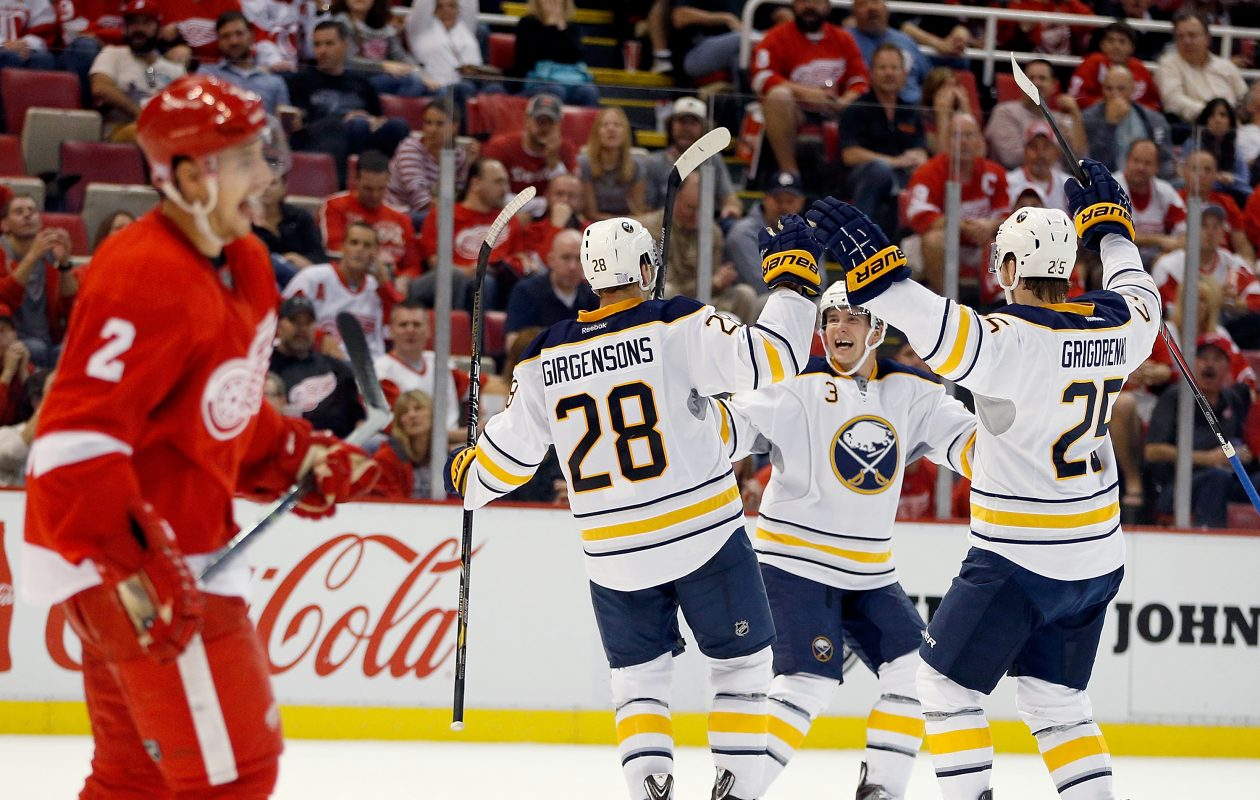 Zemgus Girgensons, Mark Pysyk and Mikhail Grigorenko were highly rated prospects. Pysyk and Grigorenko are gone, while Girgensons is a healthy scratch. (Getty Images)