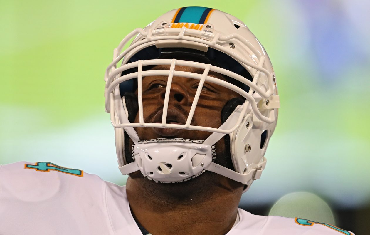 Miami Dolphins' Jermon Bushrod is out with a foot injury. (Getty Images)