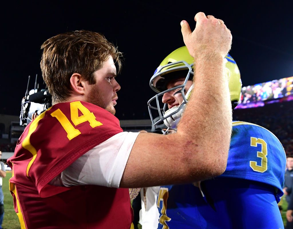 Sam Darnold (14) and Josh Rosen (3) could be the top two picks in the NFL Draft. (Getty Images)