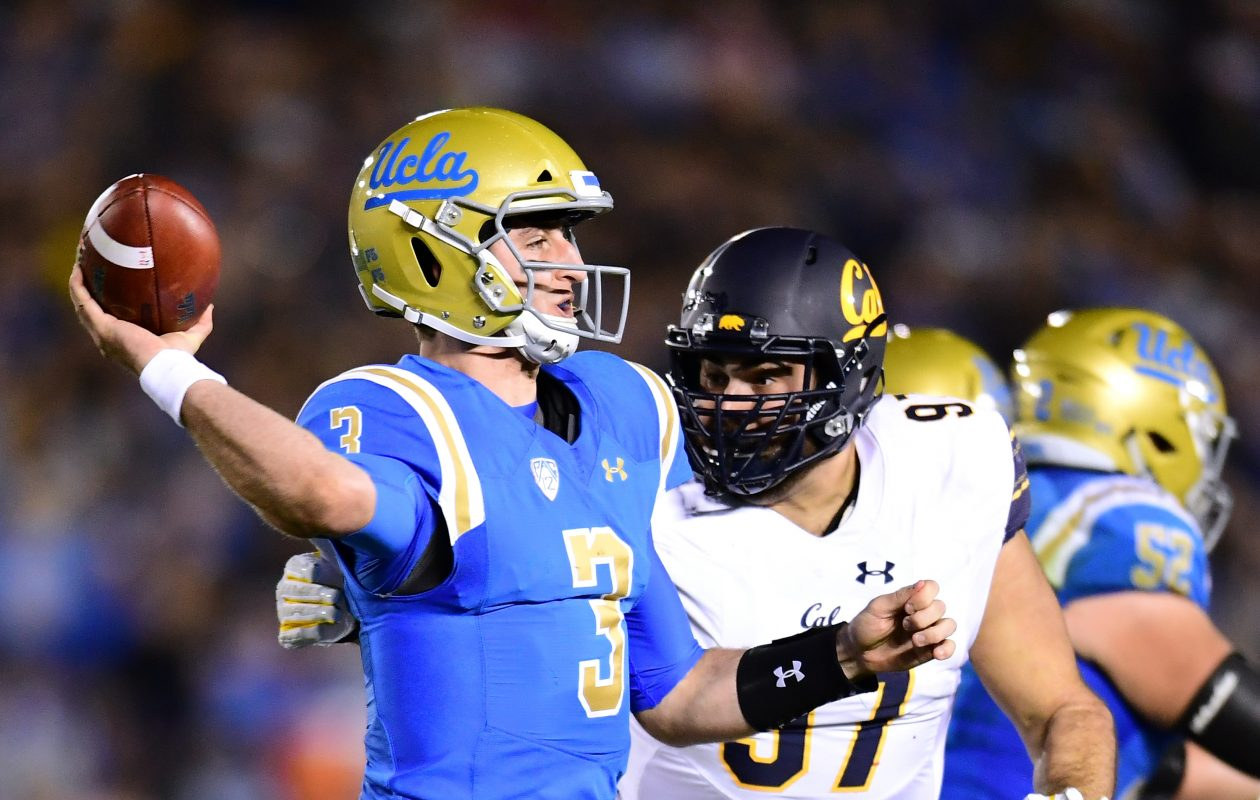 To get a top quarterback like UCLA's Josh Rosen, the Buffalo Bills might have to package some of their draft picks to move up. (Getty Images)