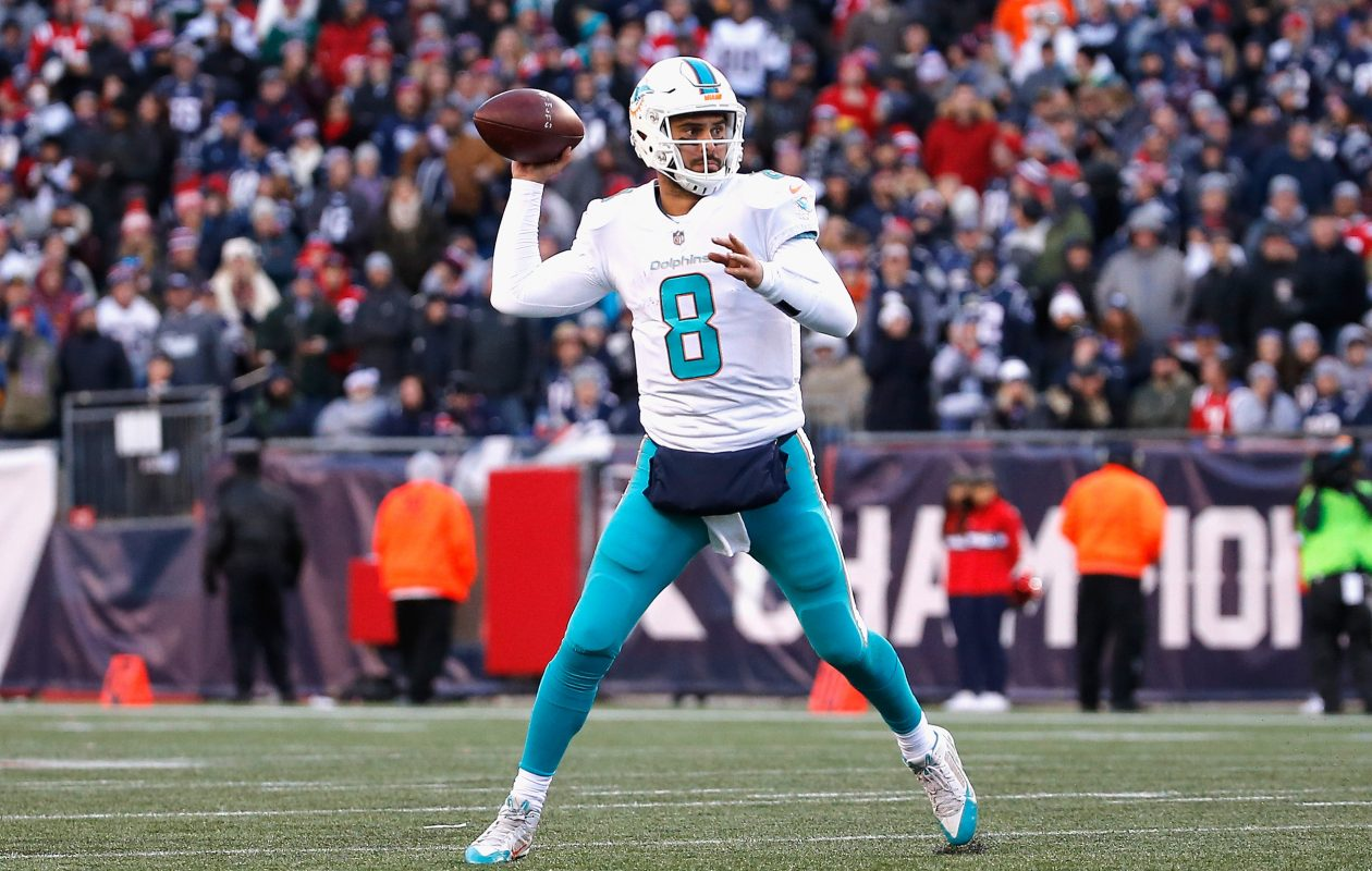 Miami Dolphins primary backup quarterback Matt Moore did not practice Wednesday. (Getty Images)
