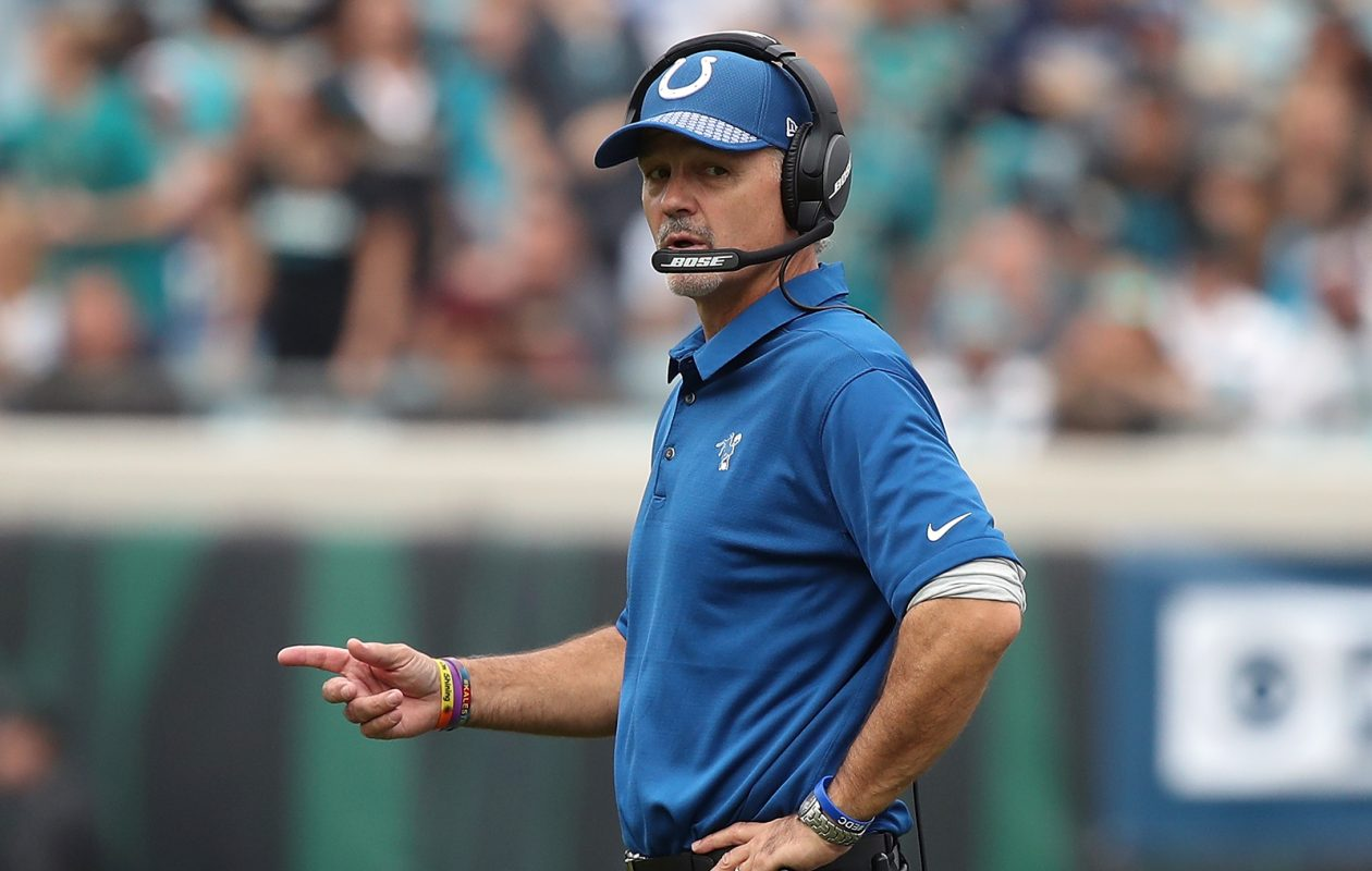 Head coach Chuck Pagano of the Indianapolis Colts.  (Logan Bowles/Getty Images file photo)