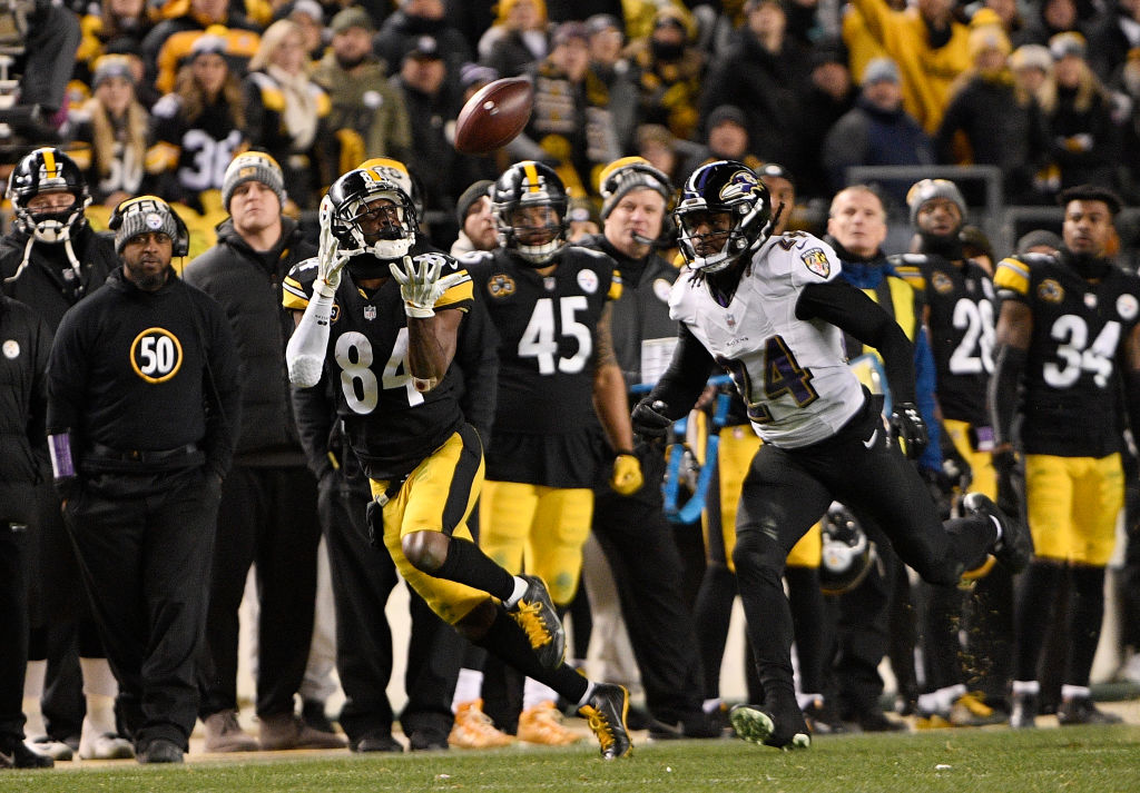 The explosive talent of Antonio Brown will present a challenge for the New England Patriots. (Getty Images)