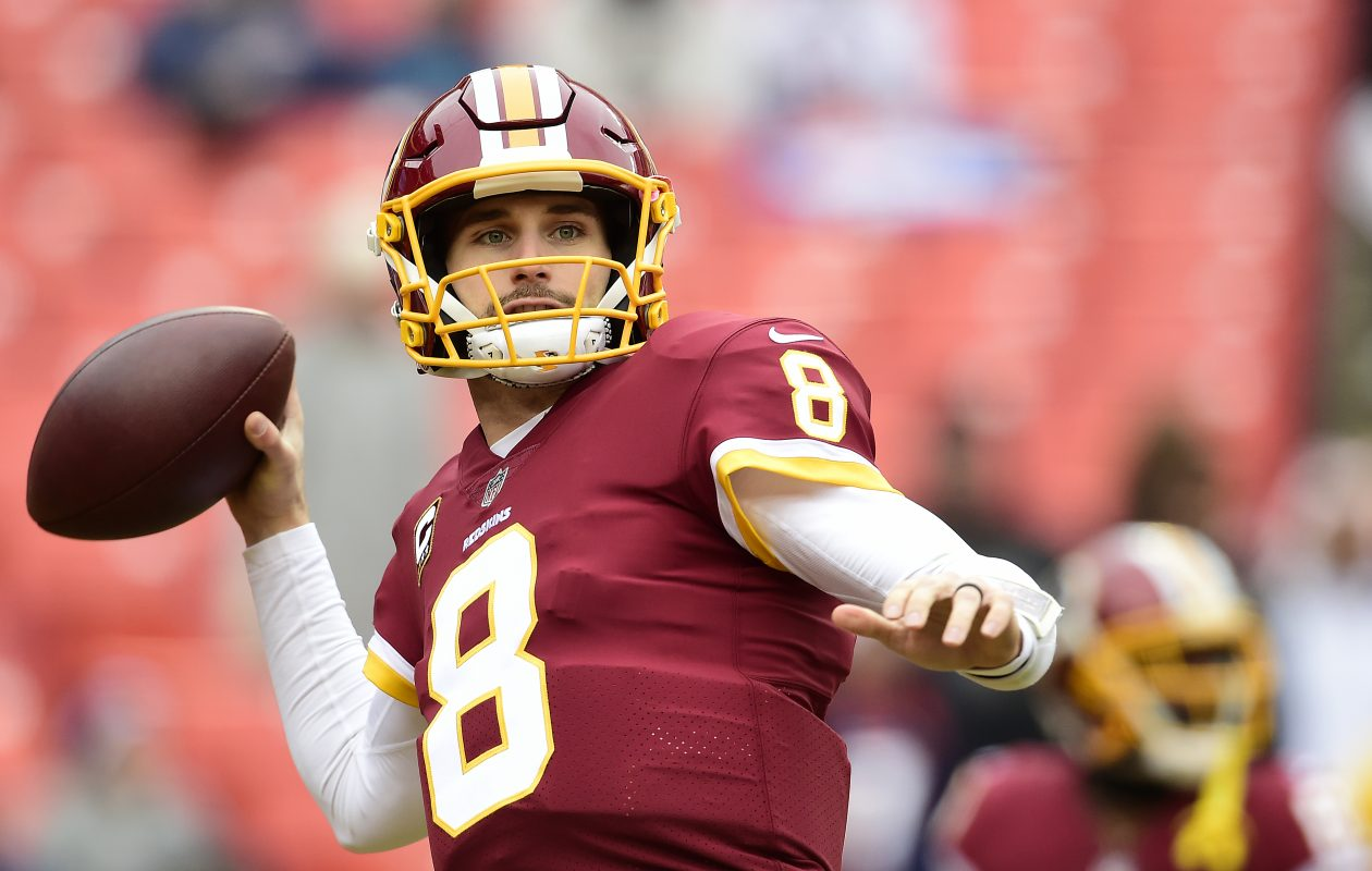 Quarterback Kirk Cousins  could have been playing his final home game for Washington (Patrick McDermott/Getty Images)