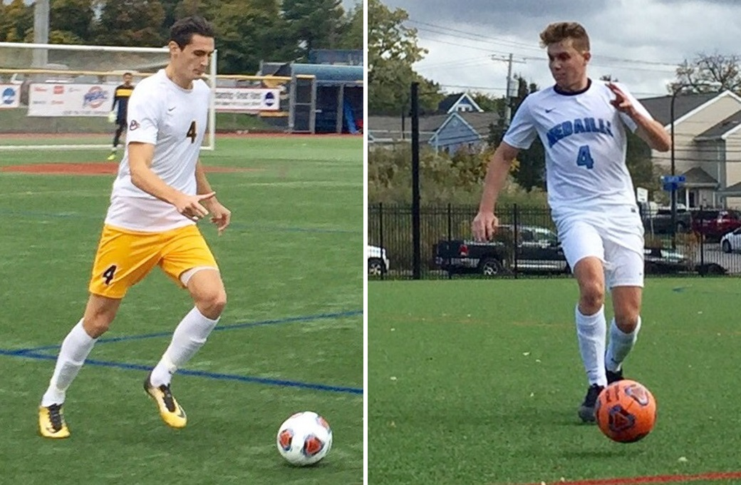 Canisius' Alex Grattarola was named MAAC Defensive Player of the Year, while Medaille's Mitchell Ali made the AMCC first team. (Ben Tsujimoto/Buffalo News)