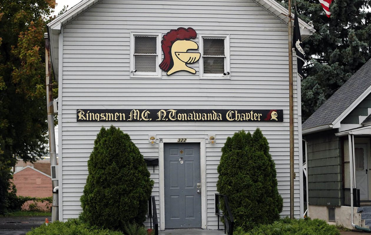 The Kingsmen Motorcycle Club on Oliver Street in North Tonawanda, where two were killed execution-style on Sept. 6, 2014. (Derek Gee/News file photo)