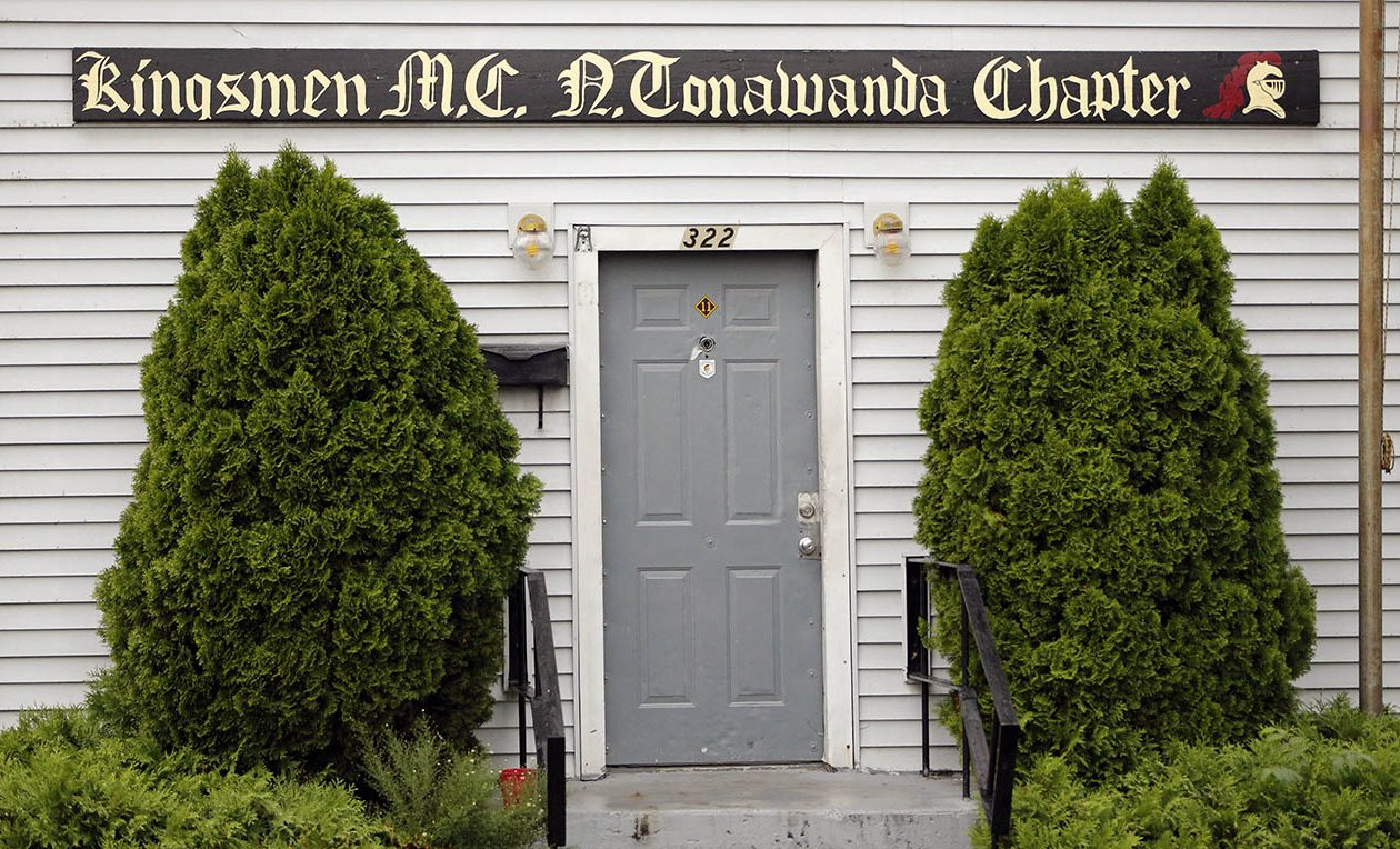 The Kingsmen Motorcycle Club on Oliver Street in North Tonawanda, where two were killed in a shooting, in September 2014. (Derek Gee/News file photo)