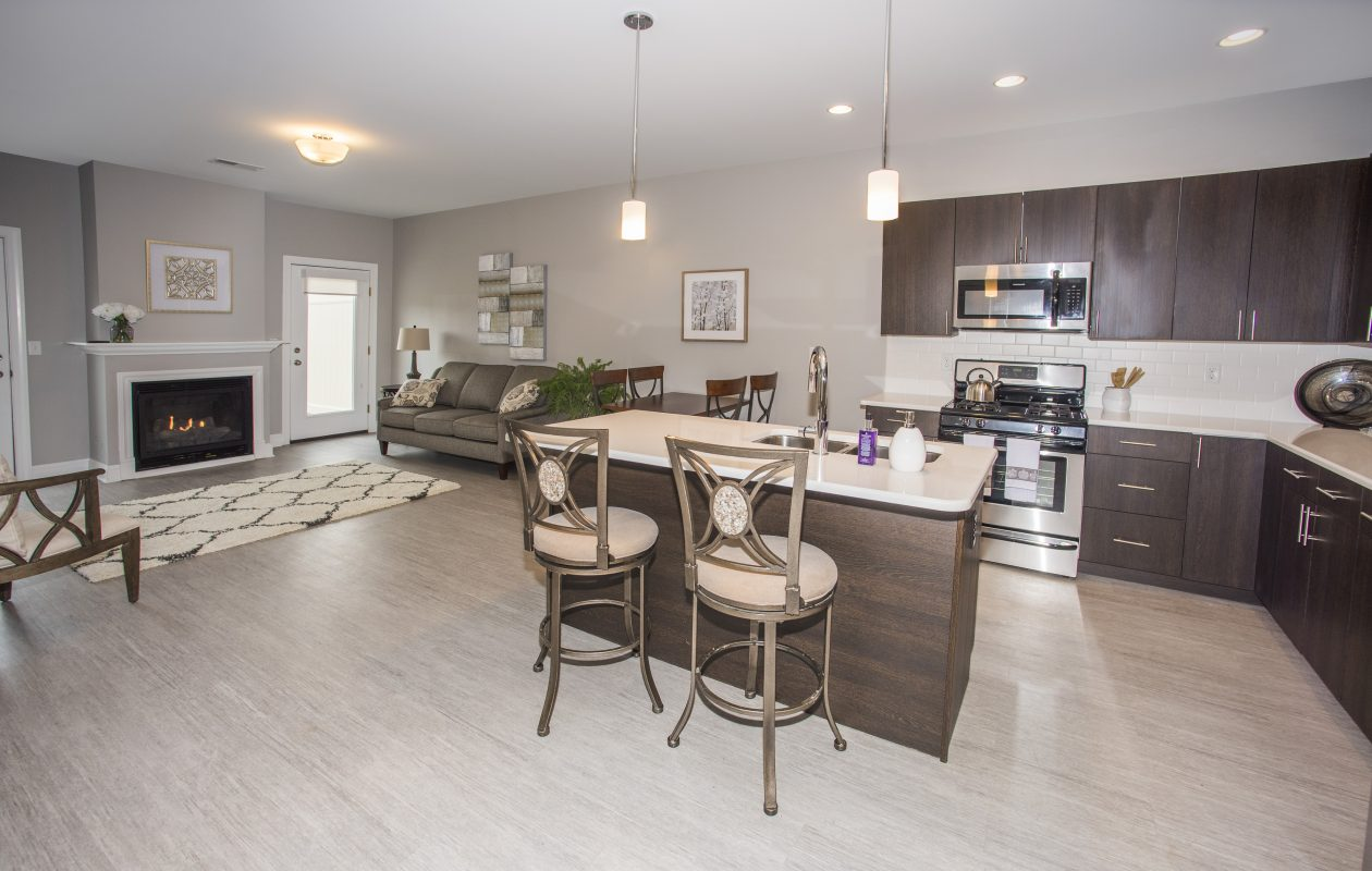 The Crossings is a small community of 10 1,200-square-foot apartment homes is located just off Millersport Highway at 173 Miller Road and features two-bedroom, two-bathroom single-level, fully handicapped accessible apartments.