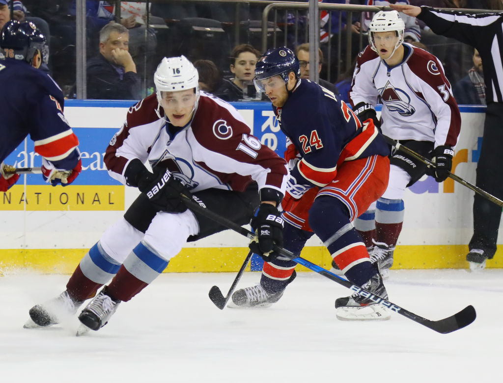 Former Sabres defenseman Nikita Zadorov has three goals and two assists for the Avalanche this season. (Getty Images)