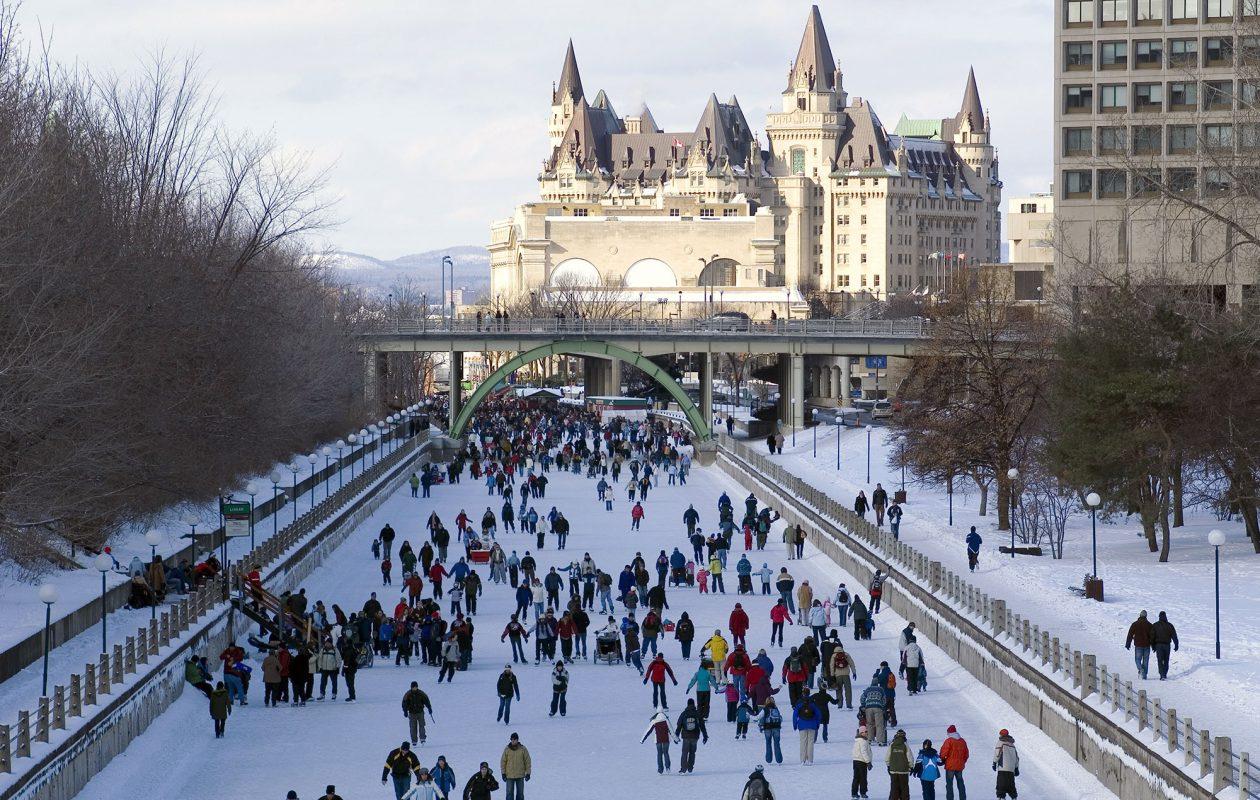 Rideau Canal Skateway.  (Ottawa Tourism)