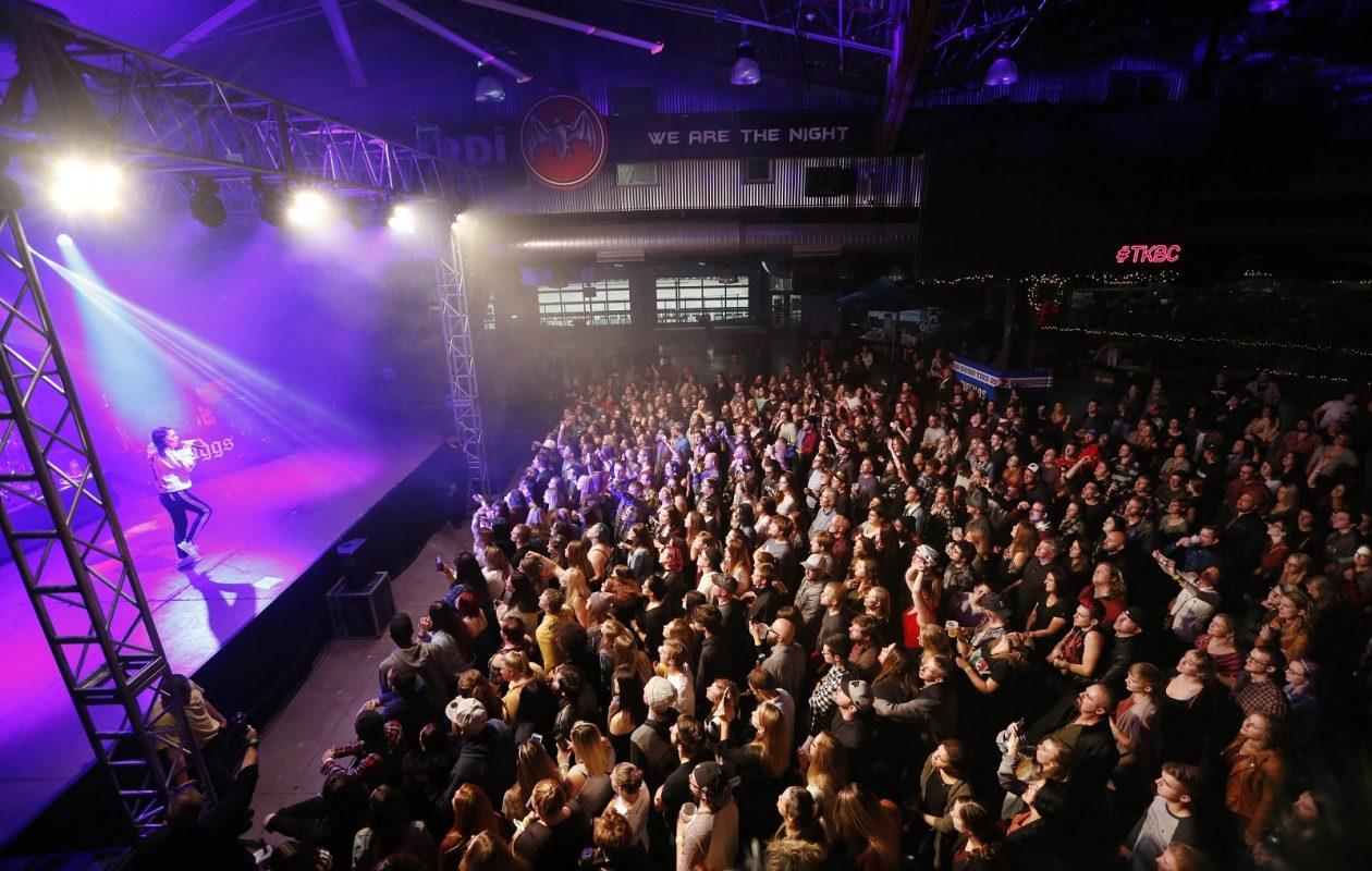 Buffalo RiverWorks starred as a concert venue during the Kerfuffle Before Christmas: Night One. (Sharon Cantillon/Buffalo News)