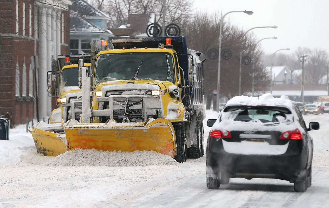 Sunday's storm took out three of Lackawanna's snowplows. (Mark Mulville/News file photo)
