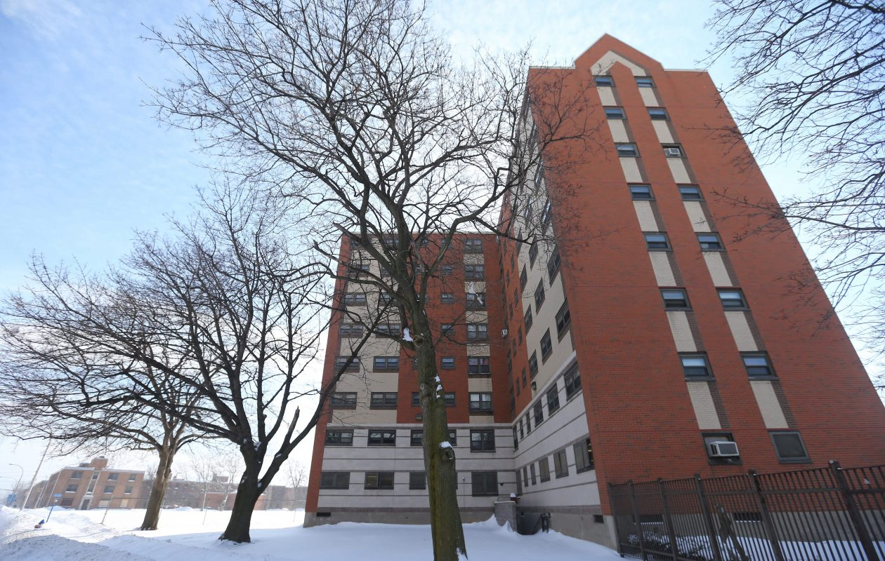 Some tenants of the Perry Projects were without electricity, heat and hot water and elevator service on Christmas Day. (Mark Mulville/Buffalo News file photo)