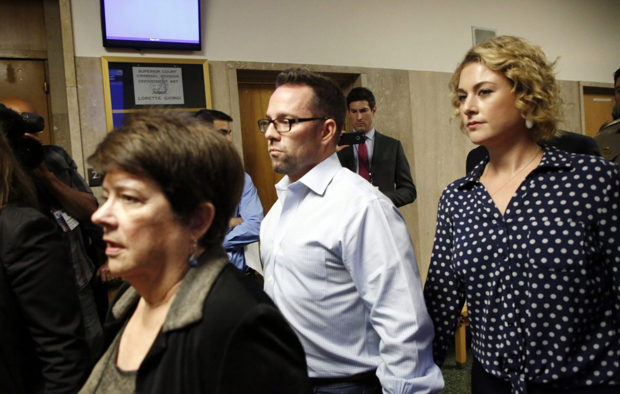 The family of Kate Steinle, including her mother Liz Sullivan, left, brother Brad Steinle and sister in law Amy Steinle enter the courthouse at the San Francisco Hall of Justice in San Francisco, Calif., in this file photo.  (Laura A. Oda/Bay Area News Group/TNS)