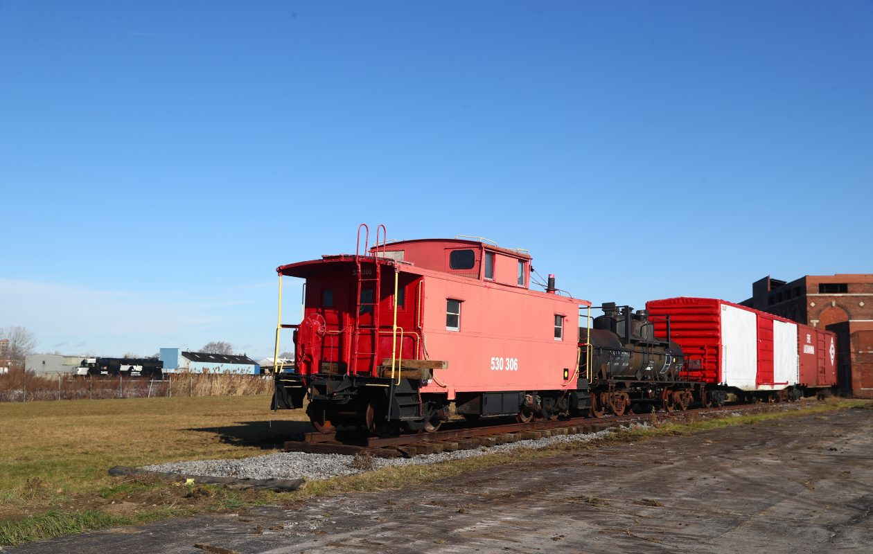 The Western New York Railway Historical Society put two old rail cars , a tanker and caboose onto the tracks at the Western New York Heritage Discovery Center, 100 Lee St., in  Buffalo,  N.Y., on Friday, Dec. 1, 2017.  (John Hickey/Buffalo News)