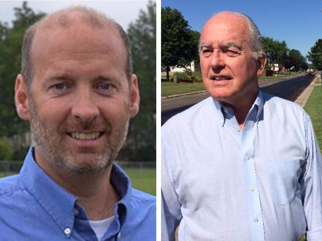 Ted Casey, left, declined Tom Best's offer to stay on as deputy highway superintendent.