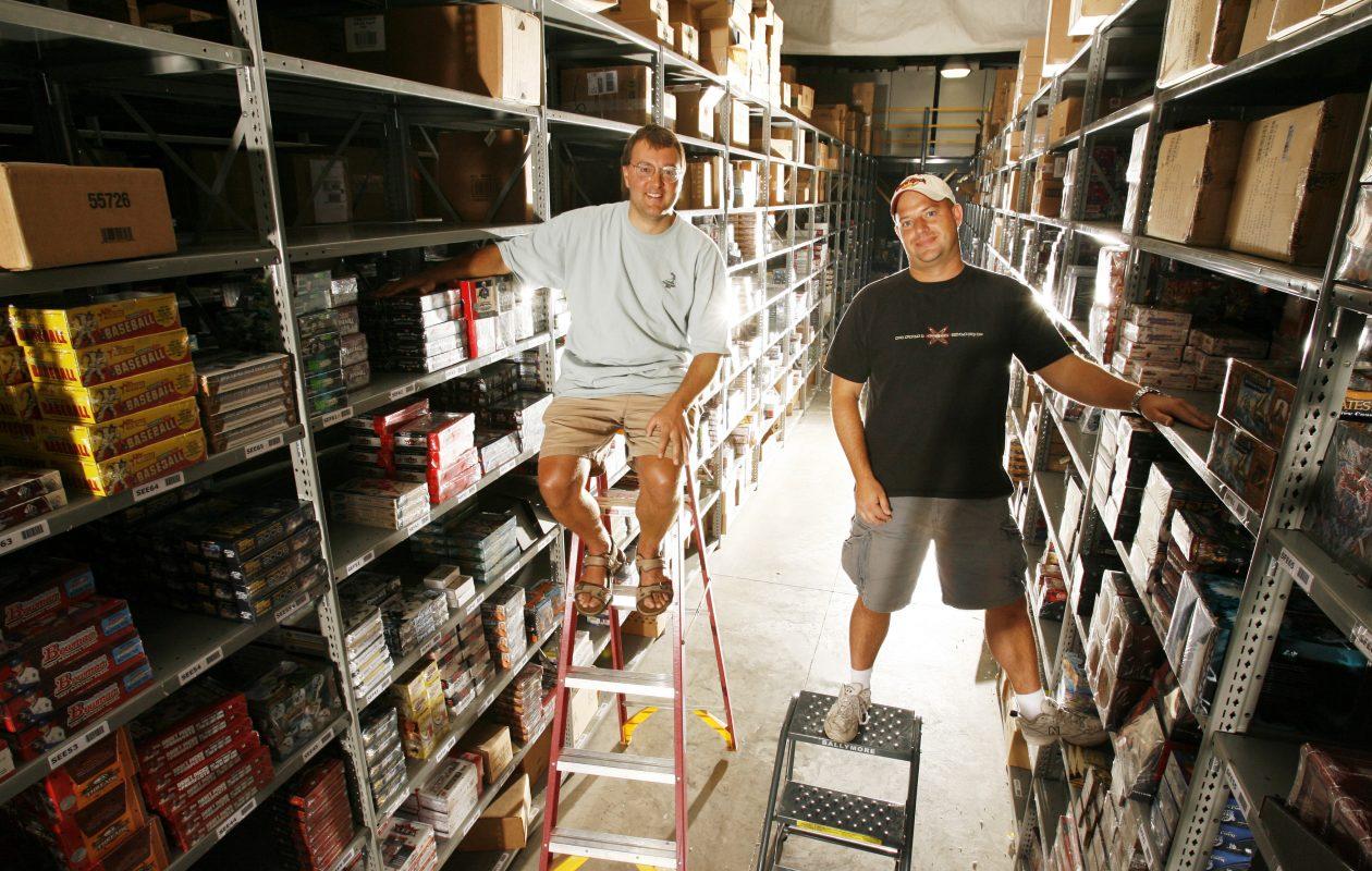Adam  Martin and  David Silver hang out in their warehouse. (James P. McCoy/Buffalo News)