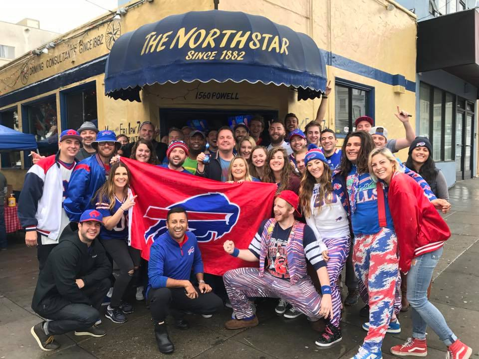 Bills fans have been gathering at Northstar Cafe in San Francisco for 20 years. (Photo contributed by SF Bills Backers)