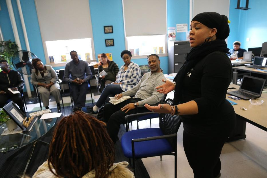 Parent Centers, like this one at East High School, are part of the new 'community schools' initiative aimed at boosting achievement in the Buffalo Public Schools, where students score below New York City's homeless students on state tests. (Derek Gee/Buffalo News file photo)