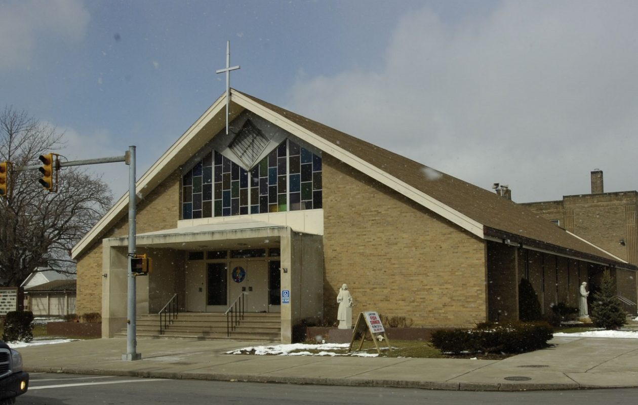 A burglar stole toys Thursday morning from St. Lawrence Church on East Delavan Avenue in Buffalo. (News file photo)