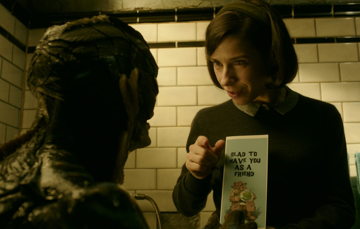 Doug Jones and Sally Hawkins forge an unlikely bond in The Shape of Water. (Courtesy of Fox Searchlight Pictures.)