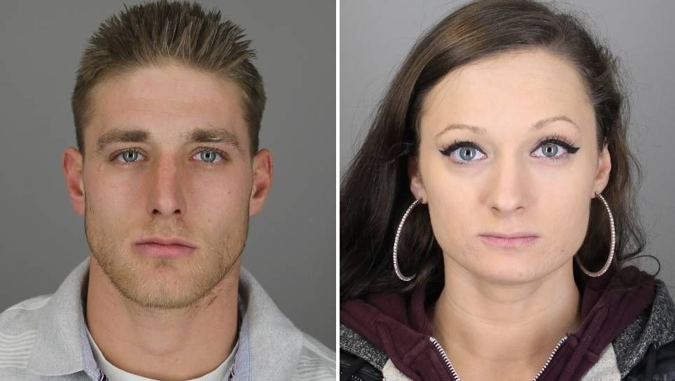 Benjamin R. Rupert, 24, and Angeline M. Bendelow, 26, both of Oliver Street in North Tonawanda, were charged after police sought information from the public. (City of Tonawanda Police)