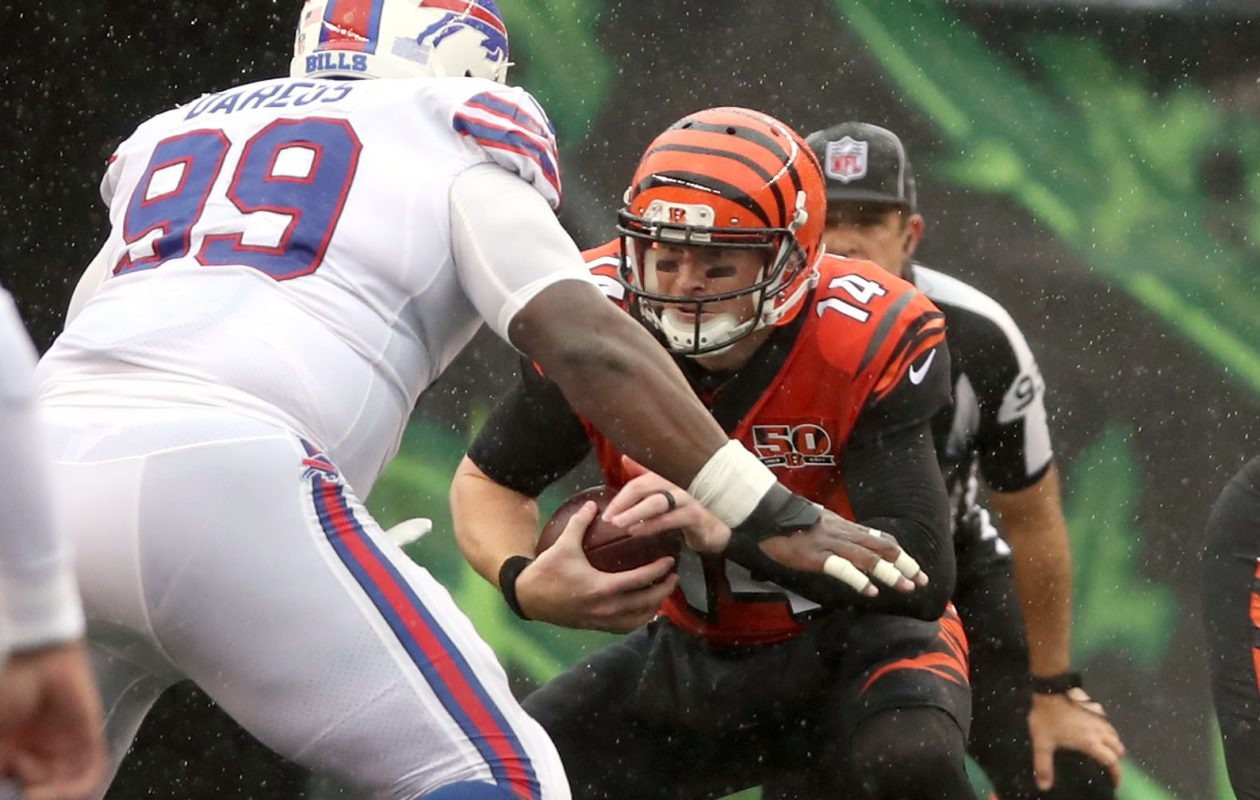 Bengals quarterback Andy Dalton is arguably the most popular man in Buffalo right now. (James P. McCoy/News file photo)