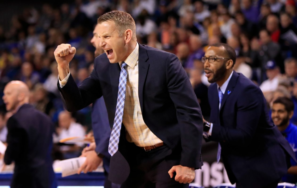 University at Buffalo men's basketball coach Nate Oats put together the seventh-toughest non-conference schedule according to RPI. (Harry Scull Jr./Buffalo News)
