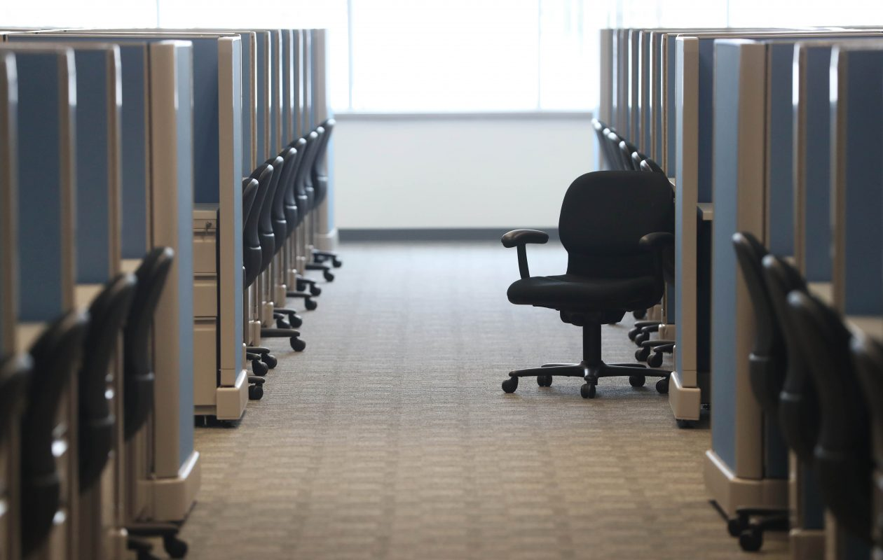 Strategic Financial Solutions, a debt-consolidation firm, has opened its permanent home in Amherst and intends to fill these chairs with up to 1,500 employees over the next five years. (Sharon Cantillon/Buffalo News)