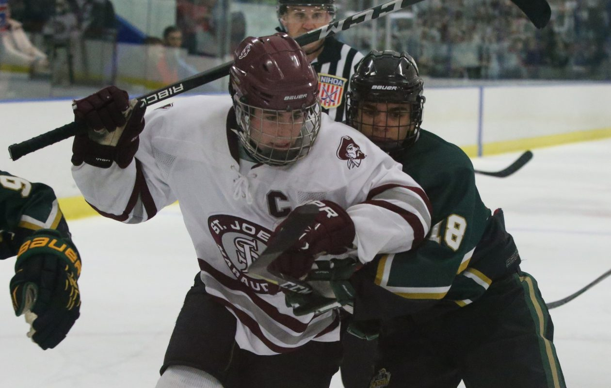 Spencer Frome is one of the key returnees and a high-energy player for defending state Catholic champion St. Joe's.  (James P. McCoy / Buffalo News)