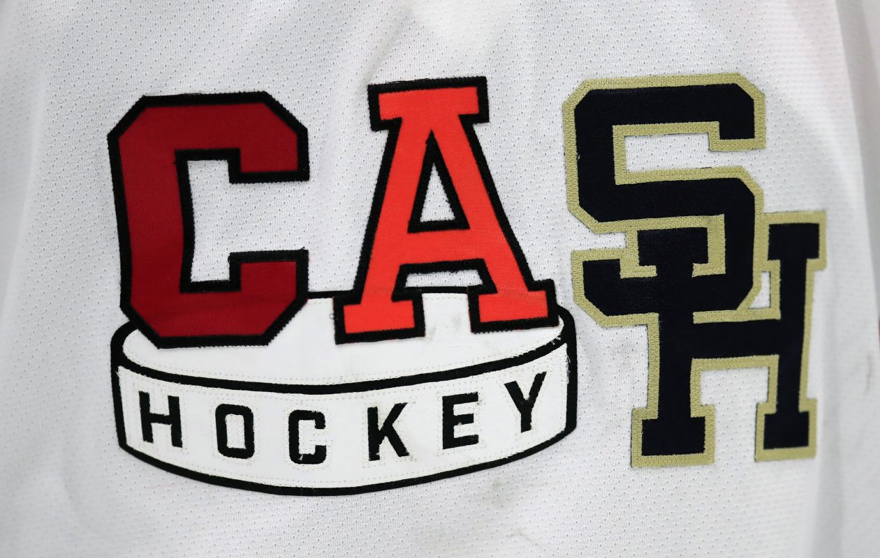 Here's the new logo for the Clarence/Amherst/Sweet Home combined girls hockey team that is now proudly displayed on the team's home and away uniforms. (Harry Scull Jr./ Buffalo News)